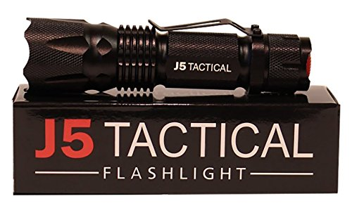 J5 Tactical V1-Pro Flashlight – The Original 300 Lumen Ultra Bright LED Mini Tactical Flashlight