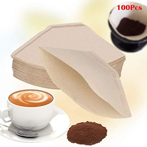 iTimo Coffee Filter Paper, Tea Filter Packs, Wood Paper, Sector, 100 Pcs/Bag