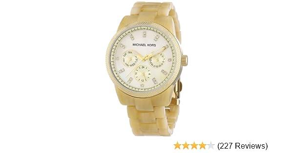 ada3a020cf68 Amazon.com  Michael Kors Women s MK5039 Ritz Horn Watch  Michael Kors   Watches