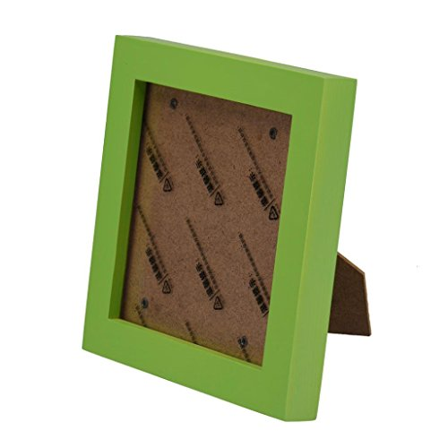 Creazy Office Fashion Home Decor Wooden Picture Frame Wall Photo Fram 5'' (Green)