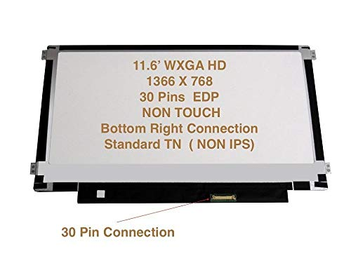 Check Out This Rinbers Replacement 11.6 Laptop LCD LED Screen Display WXGA HD Matte 30 Pin EDP Side...