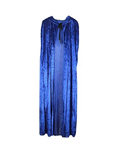 Hooded Cape Medieval Style Halloween Velvet Cosplay Cloak
