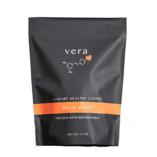 Decaf Roast Coffee - Coffee Infused With Red Wine Antioxidant Resveratrol -12 Ounce Bag (Best Red Wine Antioxidants)