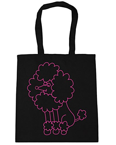 42cm Gym Beach Tote x38cm Shopping 10 Bag HippoWarehouse Poodle litres Black x67wYY