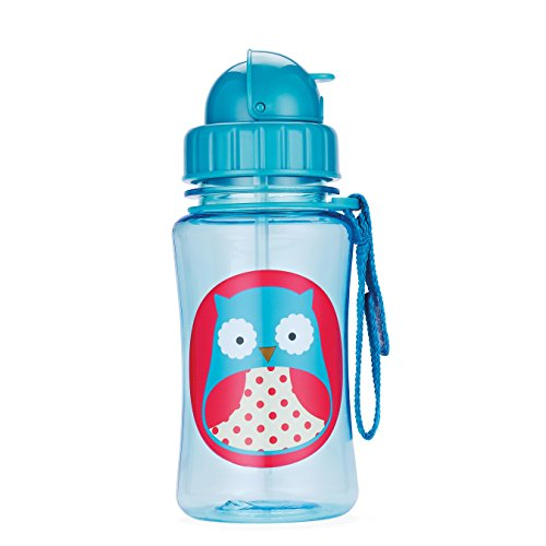 Skip Hop Zoo Straw Bottle, Holds 12 oz, Otis Owl