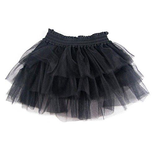 Gotd Kid Baby Girls Tutu Dress High Waist Gauze Bubble Pincess Voile Dance Skirt (Glitter Bubble Dress)