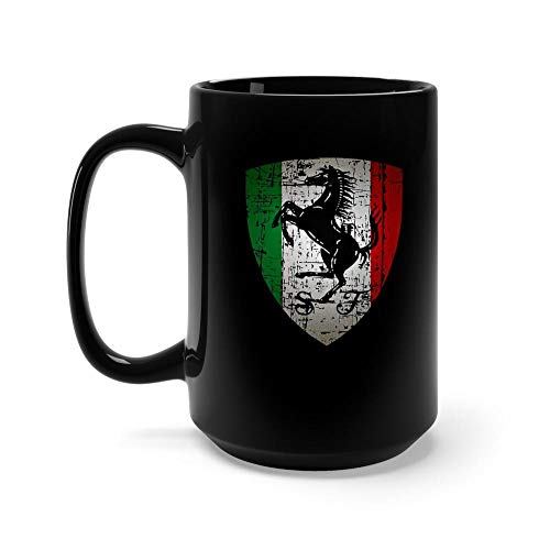 - FERRARI 15 oz Black Ceramic Horse Lover Tea Coffee Mug Funny and Inspirational Gifts for Equestrian Owner Men Women