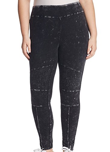 Marc New York by Andrew Marc Marc York Women's Large Faded Moto Legging Pants Black L