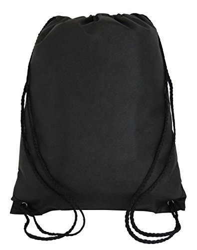 50 PACK - Economical Non Woven Well Made Drawstring Backpack Bags Bulk - Giveaway Church, School, Event, Trade show bags Charity Cheap Donation Wholesale Drawstring Backpacks Sack Packs -