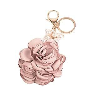 Amazon.com: Llavero con colgante de flor de perlas de ...