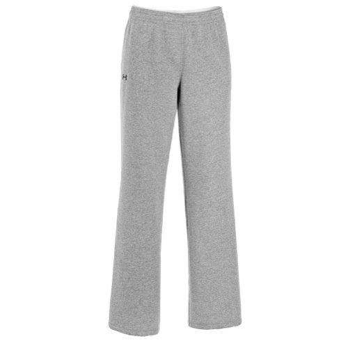 - Under Armour Women's UA Team Rival Fleece Pants, True Gray Heather/Black, Large