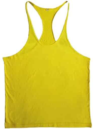 6c34f18d712b1d Jaycargogo Mens Solid Cotton Workout Sport Casual Vest Tank Tops