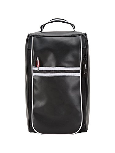 GOODHOPE Bags Zippered Simulated Leather Metro Shoe Bag, Black Simulated Leather Zippered