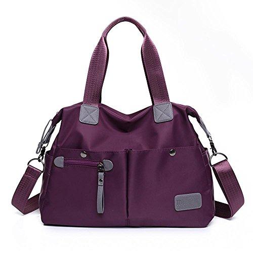 Aoligei Fashion femmes S Pack version coréenne en nylon imperméable toile sac diagonal Croix épaule sac à main A