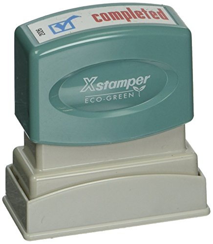 - Xstamper(R) Pre-Inked, Re-Inkable Two-Color Title Stamp,