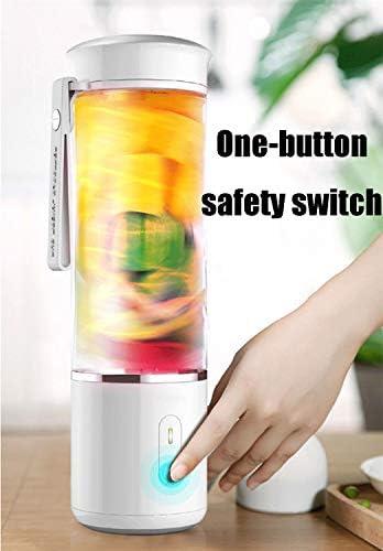 Yuiop Licuadora Portátil,Máquinas exprimidor, exprimidor eléctrico portátil, Fruta y Verduras hogar Taza pequeña exprimidor exprimidor Recargable USB inalámbrico