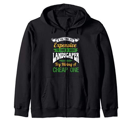 Landscaper Shirt Funny Landscaping Gardener Landscaper Gift Zip Hoodie (Landscaping Hoodie)