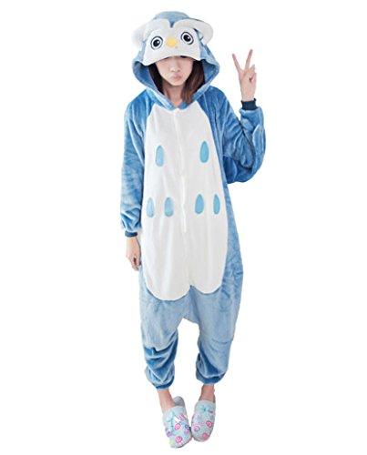 Adstry Cosplay Kigurumi Pajamas Sleepwear Costume Homewear Lounge Wear 08 Owl S (Toddler Bo Peep Costume)