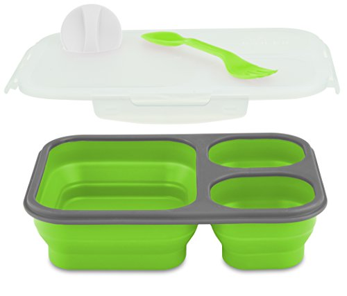 Smart Planet Collapsible Eco Meal Kit, Large, Green