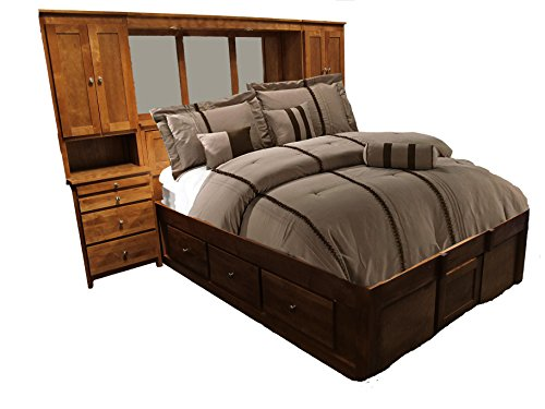 Wall Pier Queen (Forest Designs Urban Queen Pier Wall & Platform Bed King Black Alder)