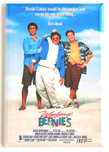 Weekend at Bernie's Movie Poster Fridge Magnet (2.5 x 3.5 inches) style B