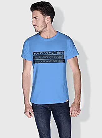 Creo You Read My T Shirt Funny T-Shirts For Men - S, Blue