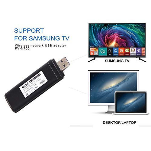 ss Wi-Fi Adapter,802.11ac 2.4GHz and 5GHz dual-band Wireless Network USB Wifi Adapter for Samsung Smart TV WIS12ABGNX WIS09ABGN 300M ()
