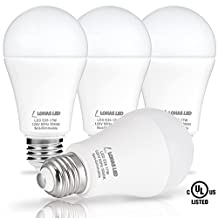 LOHAS LED Light Bulb, 17W (150W of Replacement), E26 Screw Base, A19 LED Daylight White 5000K, 1600 Lumen, Good Choice for Both Residential and Commercial Settings, Amazing Brightness (4 Pack)