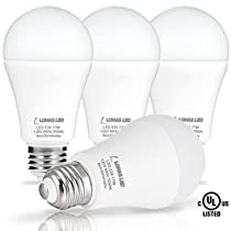 (4pack) LOHAS A19 LED Lights, 17W (150Watt Equivalent) LED Bulb, Warm 2700K, Energy Saving Light Bulbs LED, 180 Degree Beam Angle, 1600Lm, E26 Medium Screw Base, LED Lighting for Home, Not-Dimmable