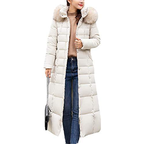 Fourrure Hiver Avec Blanc Longue Manteau Mode Parka Fanessy 1paCfp6