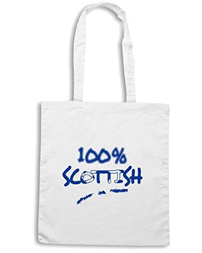 T-Shirtshock - Bolsa para la compra OLDENG00001 100 scotland Blanco