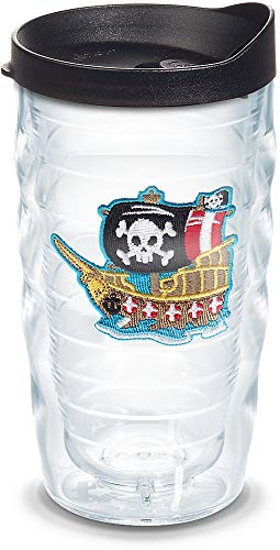 Tervis 1086466 Pirate Ship Insulated Tumbler with Emblem, 10 oz, -