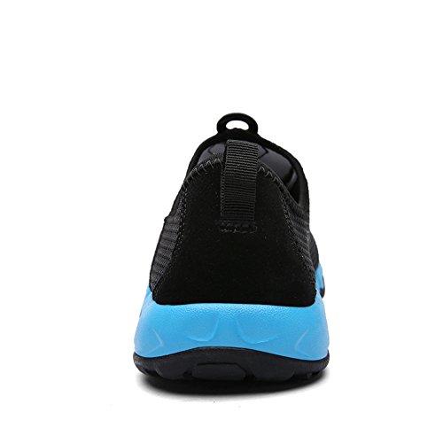 Gomnear Respirable Zapatos Corriendo Zapato Ligero Casual Hombres Antideslizante Ocio Moda Deporte Aptitud Gimnasio Para caminar (UK6.5/EU40, azul)