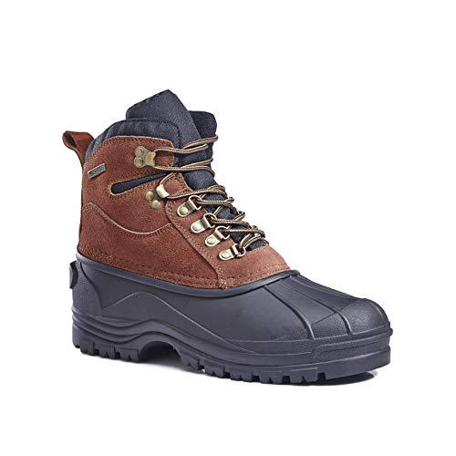 Men's Waterproof 1280 Snow Boots (9.5 M US,BROWN 1280-1)