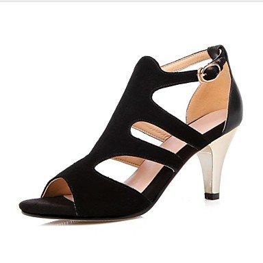 LvYuan zapatos del club de las sandalias del verano del resorte de las mujeres del partido piel de vaca&vestido de noche Light Grey