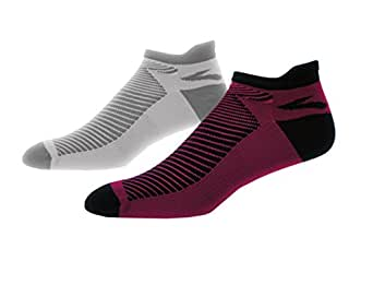 Brooks Glycerin Midweight Socks (Small US Women's 4-6.5, Currant/Navy-Oxford/Asphalt)