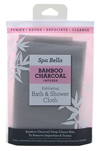 Spa Bella Bamboo Charcoal Infused Exfoliating Cloth (6 Pack)