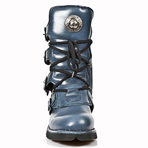 Boots M Blue Men's New Leather Rock blue Blue 1473 p4q5Yv