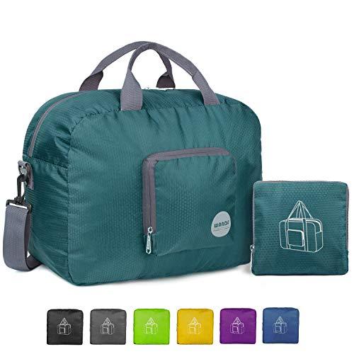 """16"""" Foldable Duffle Bag 20L for Travel Gym Sports Lightweight Luggage Duffel, Dark Green"""