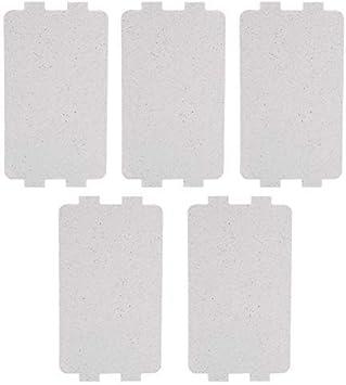 Duokon Horno de microondas Hoja de Placa de Mica Reemplazo de la Cubierta de la guía de Ondas de microondas Accesorio de reparación (5 Piezas)