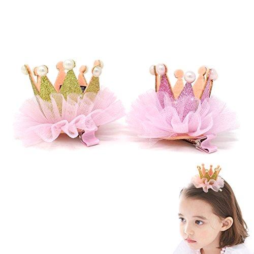 Crown Clip - Honbay 2PCS Princess Crown Pearl Hairpins Hair Clips Barrettes Hair Accessories