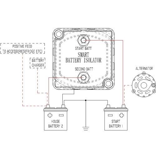 amazon com: 12v 140amp smart waterproof dual battery isolator fits atv utv  4wd rzr rv car watercraft marine boat truck caravan camping