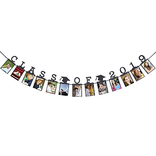Hatcher lee Class of 2019 Congrats Photo Banner-Perfect Graduation Decorations Party Supplies for Grad Party Bunting Black ()