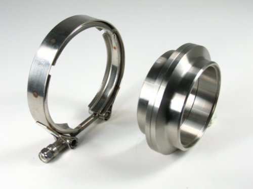 OBX Performance Stainless Steel Vband V-Band Flange Clamps Kit 3.0'' Exhaust Heavy Duty