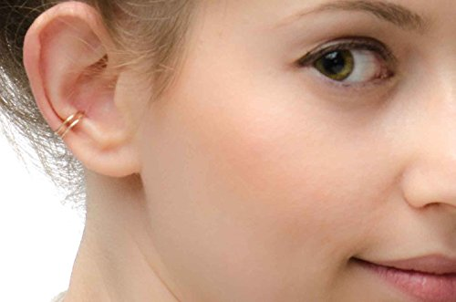 Double Band Helix Earcuff 14k Gold Filled Cuff Earring Ear Wrap Non