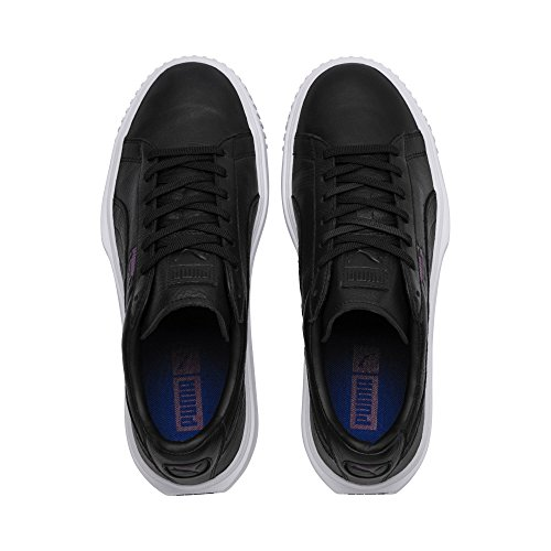 Puma Unisex-Erwachsene Breaker Leather Sneaker Puma Black-puma White-phlox