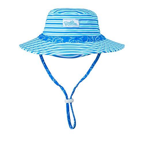 (UV SKINZ UPF 50+ Baby Boys Swim Hat - Royal Palm Tree -)