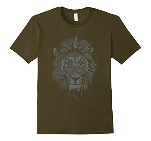 Mens Diy Lion Costume - Mens Lion face Halloween costume t-shirt for men, women and child 3XL Olive