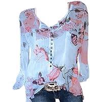 Guesspower T-Shirt Femme Manche Courte Casual Eté Tops Col V Hauts Blouse Chic Tee Shirt Chemise Grande Taille Décontractée Ete évider Blouse Casual Top Tee-Shirt,S-5XL