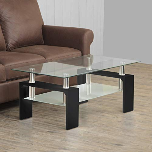 Home Centre Finn Two-Tiered Coffee Table – Black